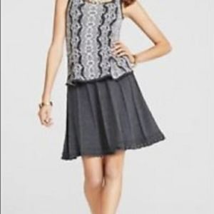 CAbi Knit Femme Swing Gray A-Line Pleated Skirt